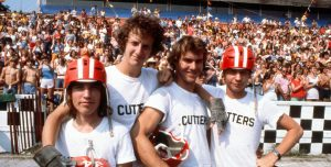 Breaking Away (1979) Directed by Peter Yates Shown: Jackie Earle Haley (as Moocher), Daniel Stern (as Cyril), Dennis Quaid (as Mike), Dennis Christopher (as Dave Stoller)