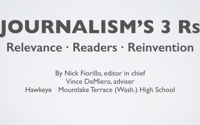 Journalism's 3 Rs: Relevance · Readers · Reinvention